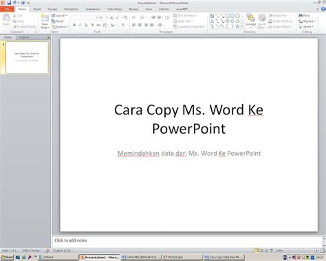 tutorial memasukan video ke powerpoint cara memindahkan data dari ms word ke powerpoint