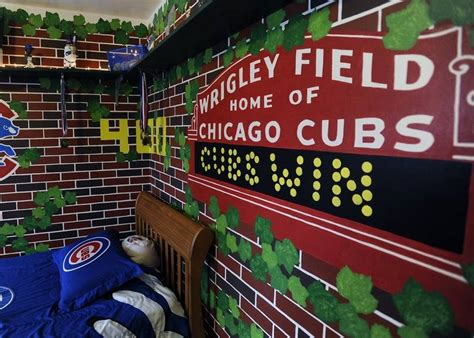 Wrigley Field Wall Mural constable artist brings wrigley field murals into homes