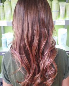 copper rose gold highlights hair color pinterest