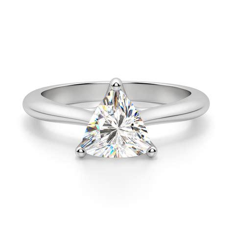 bali trillion cut engagement ring