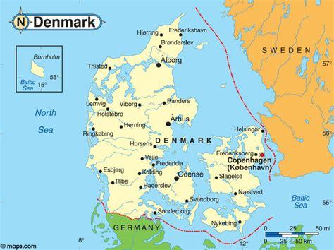 Denmark World Map by Denmark Map