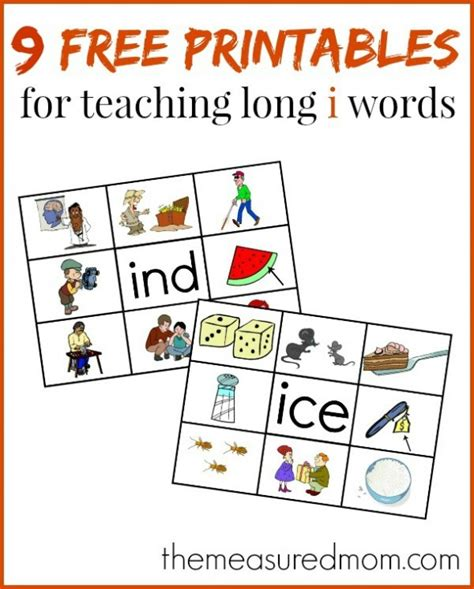 learn to read i words with these free read n stick mats the measured