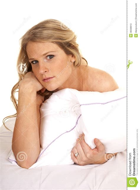 Who Sang Lay Your Upon Pillow by Bed White Pillow Lay Serious Stock Photos