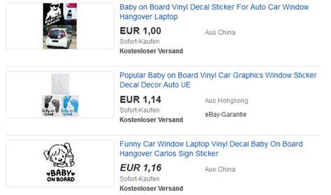 Billige Aufkleber Bestellen by Baby On Board Aufkleber Sticker Billig