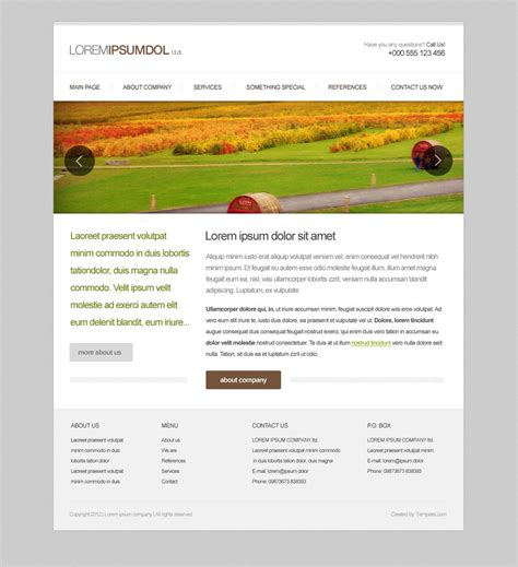 Simple Web Design Templates by Simple Webdesign Template By Tempeescom On Deviantart