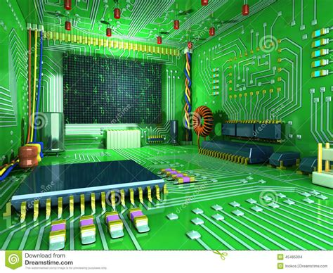digital room digital room futuristic home inside all in the interior made of electronic components