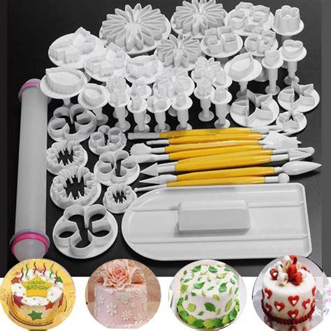cake decorating kits fondant sugarcraft cake decorating icing plunger cutters