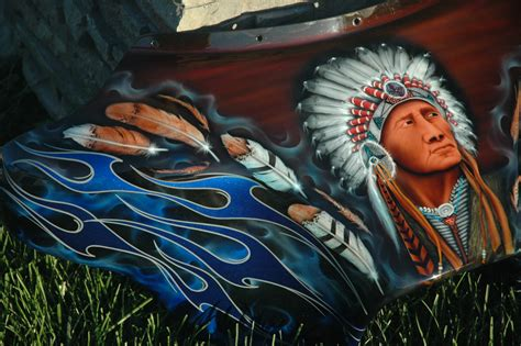 custom spray painting custom airbrush paint indian american motorcycle