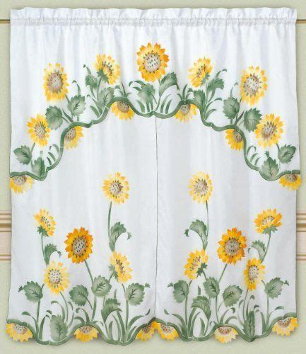 Sunflower Valance Curtains 10 Best Sunflowers Images On Pinterest Kitchen Curtains Sunflower Kitchen And Blinds