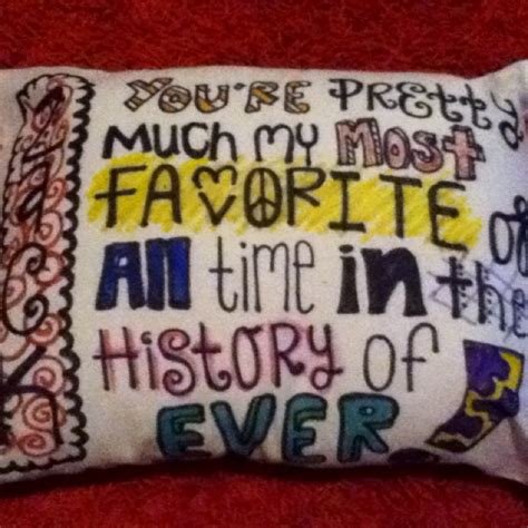 a pillow i made my boyfriend for his birthday