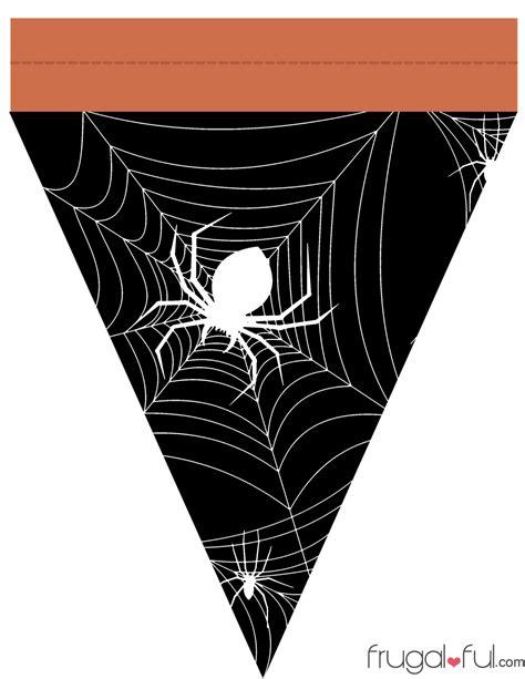 free printable halloween banner templates diy free printable halloween triangle banner template