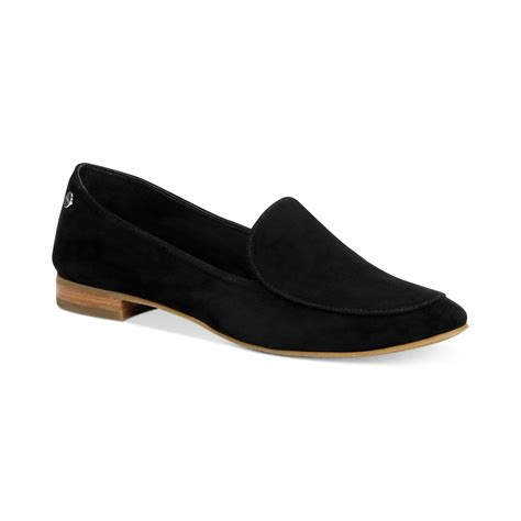 calvin klien loafers calvin klein tacoma loafers in black black suede lyst