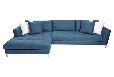 sectional denim blue sectionals from one epic