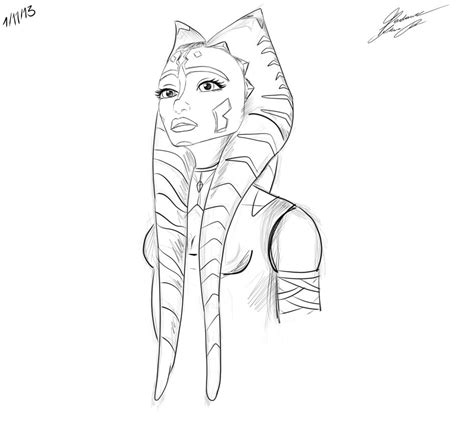 coloring pages ashoka ahsoka coloring pages and print for free