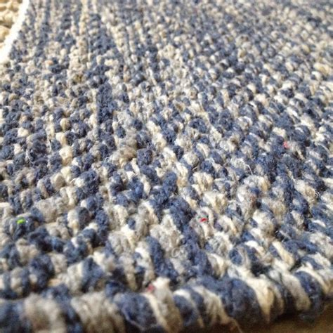 cotton patterned rug denim blue chunky weave rugsite
