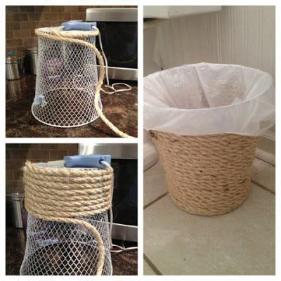 bathroom trash bags trash can crafts dollar store trash can makeover diy