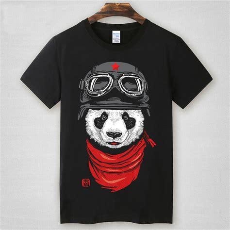 Astronaut Panda 2 T Shirt Size Xl m 8xl plus size shark brand t shirt fly panda cotton gasp fitness casual t shirt m l xl