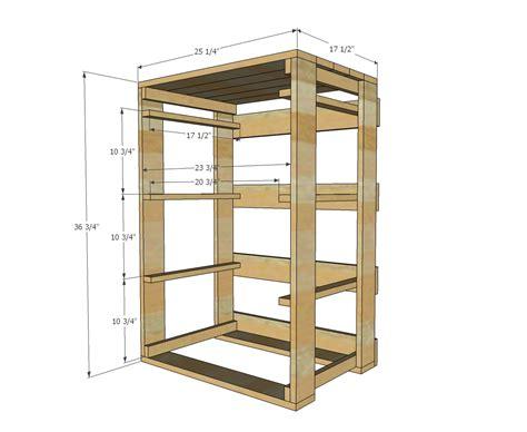 diy furniture plans plans free ana white build a pallet laundry basket dresser by