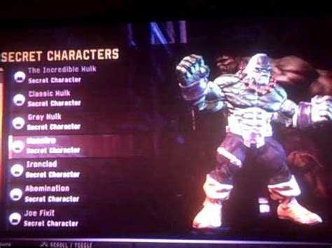 how do u find the mystery characters in cross road the incredible hulk 2008 secret characters youtube