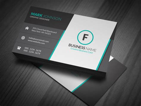template for modern business card stunning corporate business card template 187 free download