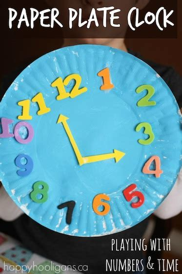 Paper Plate Craft Work - paper plate clock craft plates classroom and clock craft