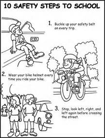 printable road safety colouring sheets coloring pages