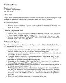 Sle Resume For Retail Position by Resume Sle Retail Buyer Resume Sles Buyer Resume