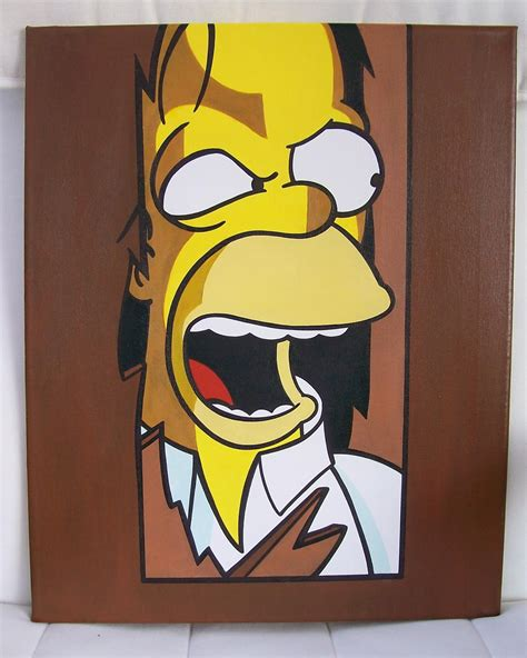 simpsons painting jdtoonart and comic pop paintings homer
