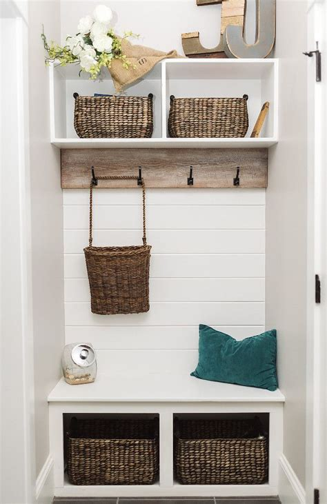 small mudroom small farmhouse mudroom  shiplap