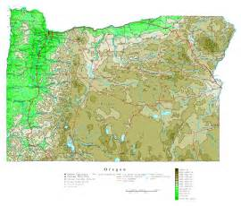 oregon large map large detailed elevation map of oregon state with roads