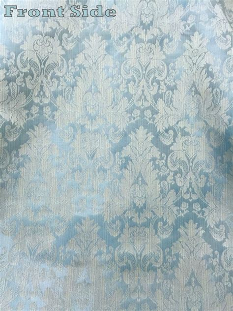 blue damask upholstery fabric fatigue blue faux silk damask jacquard 56 quot w fabric