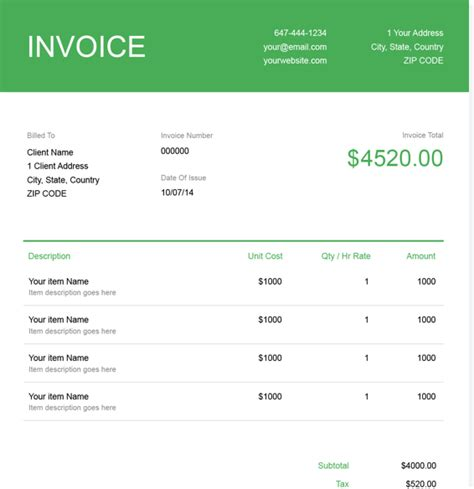Free Software Development Invoice Template   FreshBooks