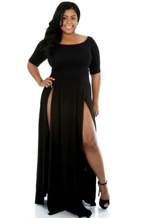 dress black slit maxi skirt maxi dress plus