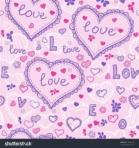 seamless pattern love love texture seamless pattern hearts stock vector