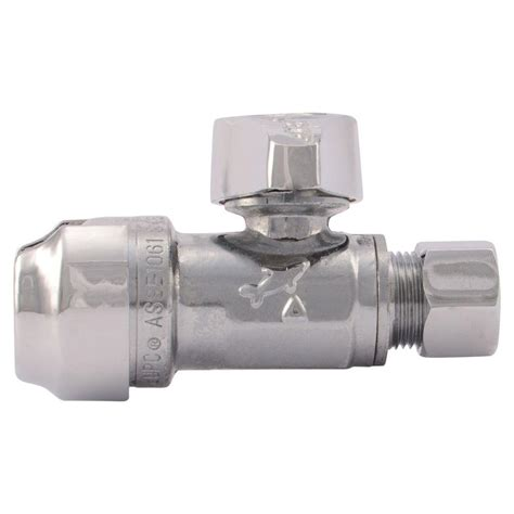 Shark Valve Plumbing by Sharkbite 1 2 In Chrome Plated Brass Push To Connect X 3