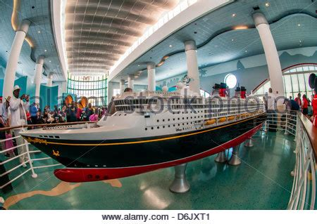 model of the new disney dream cruise ship, disney cruise