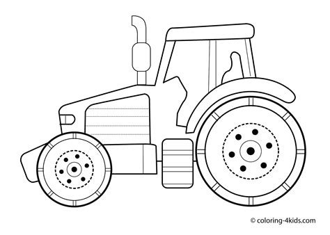 tractor template printable tractor transport coloring pages for printable