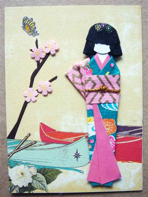Handmade Japanese Paper - 143 best images about cards with dolls on