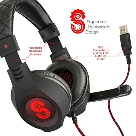 comfortable headset with mic etekcity comfortable h5gx over ear stereo professional