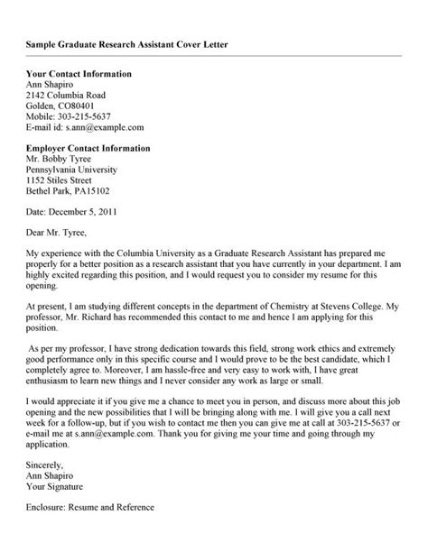 cover letter exles for research assistant research cover letter sle the best letter sle