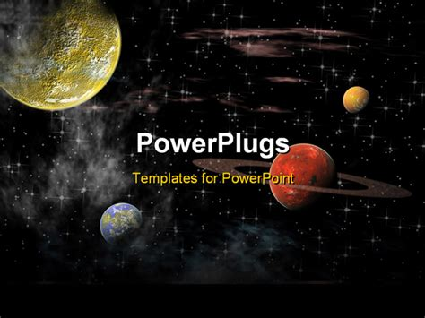 powerpoint themes universe powerpoint template view of the universe with several