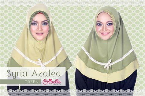 Gamis Syar I Azalea by Syiria Azalea Hijau Baju Muslim Gamis Modern