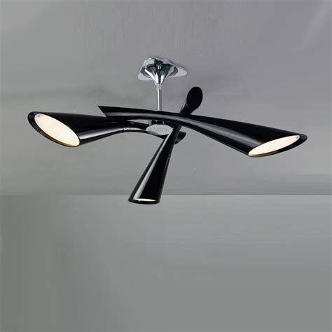 Ceiling Lights Black Mantra M0902 Pop 3 Light Black Ceiling Pendant