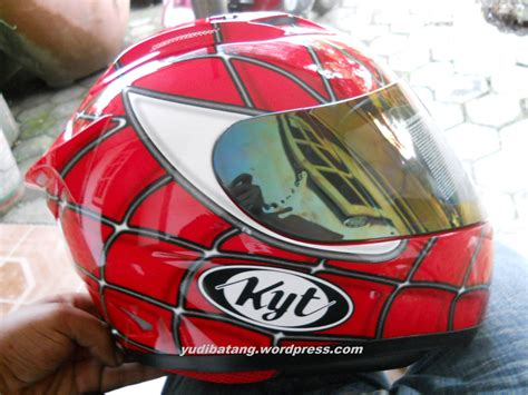 Helm Kyt Rc7 helm kyt rc7 spiderman keren juga lho yudibatang