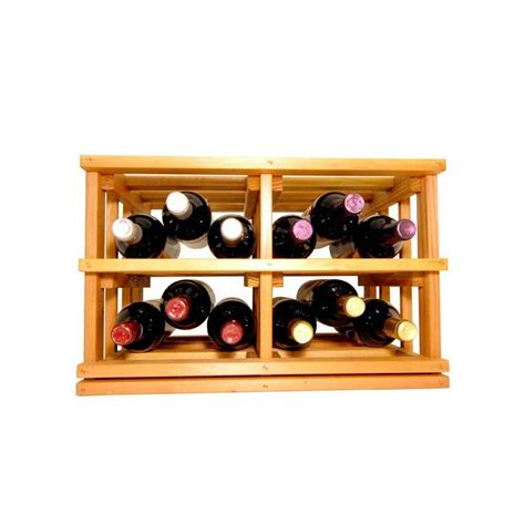 mini stack series open bin light stain wine rack 11 15 16