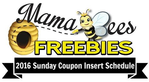printable 2015 coupon insert schedule 2016 coupon insert schedule