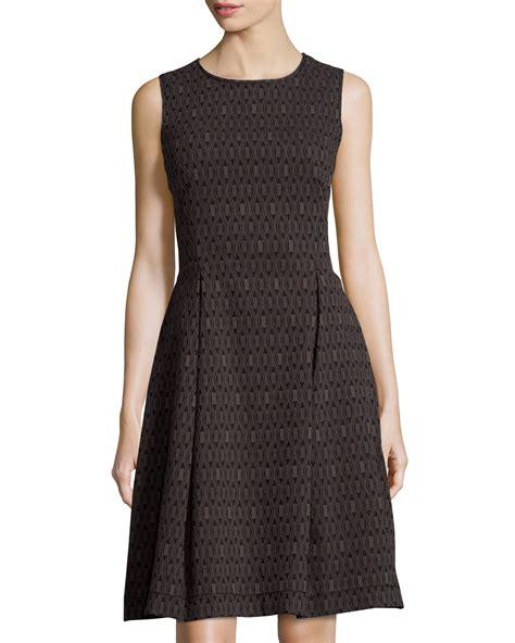 Dress Tile max studio tile print jacquard dress in black lyst