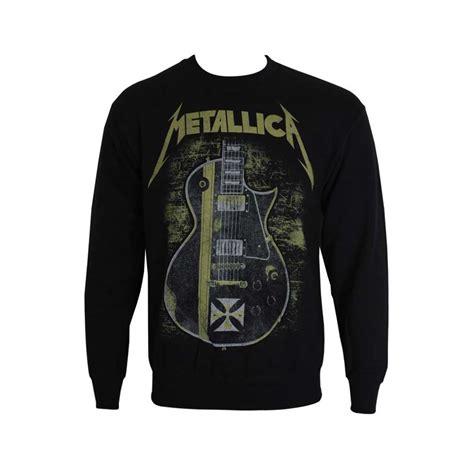 Tshirt Guitar Metalica April Merch metallica hetfield iron cross guitar sweater rockzone