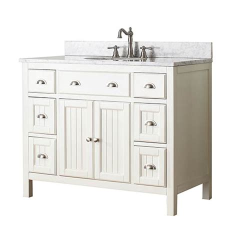 Hamilton French White 42 Inch Vanity Only Avanity Vanities 42 Inch Bathroom Cabinet