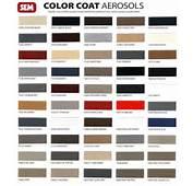 Vinyl Repair SEM Color Coat Aerosols Trim Paint Bumper Colors
